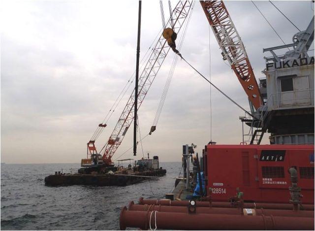 扇島石油基地(株) 40B原油受入配管洗浄工事